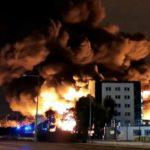 Incendie d'une usine à Rouen