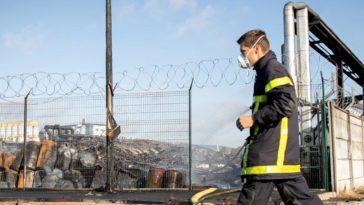 Usine Lubrizol Rouen pompiers analyses