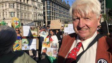 Stanley Johnson père de Boris Johnson extinction rebellion