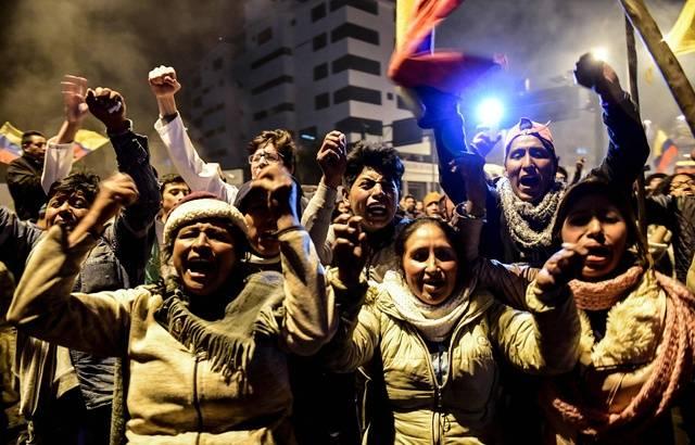 Equateur liesse de joie indigènes