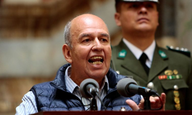 nouveau ministre de l'Intérieur bolivien s'engage à emprisonner Evo Morales