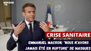 Macron masques rupture
